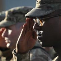 american soldiers saluting